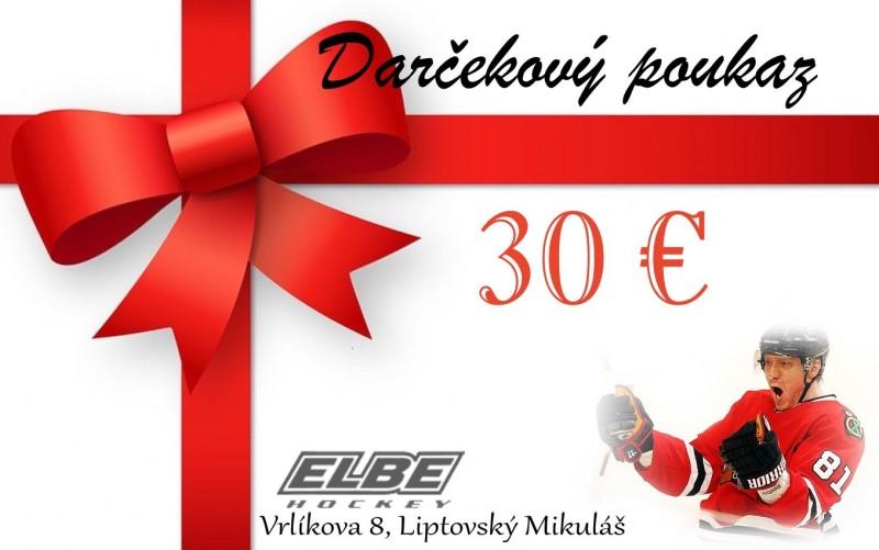 Darčeková poukážka - hodnota 30 € - Elbe.sk e6e1c09725b